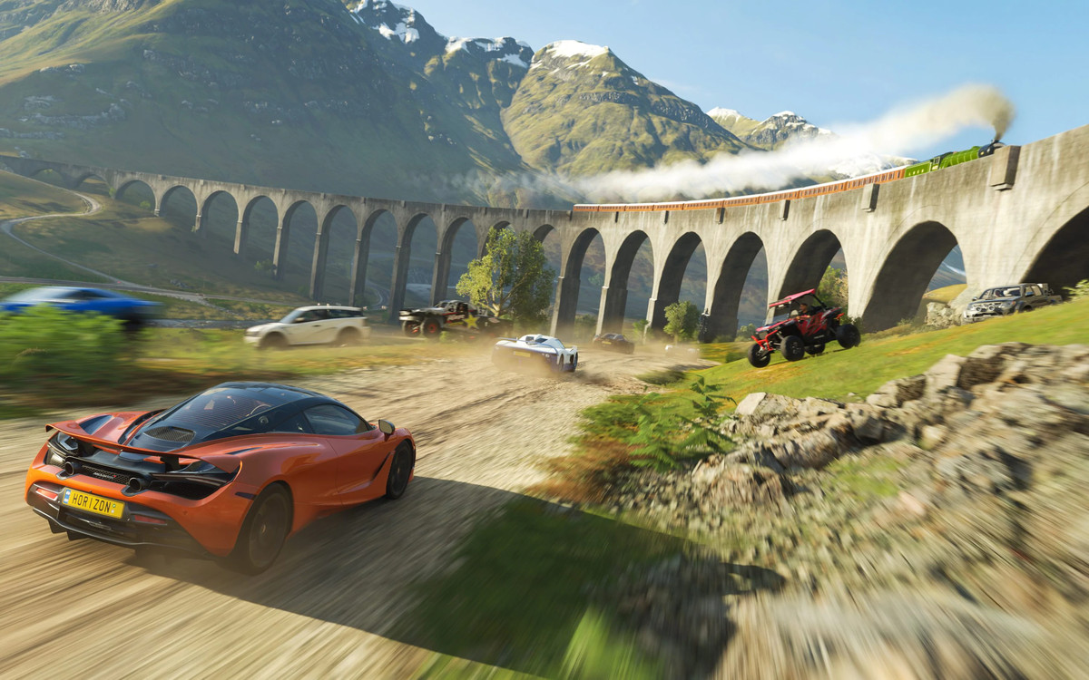 Screen image from the Forza video game