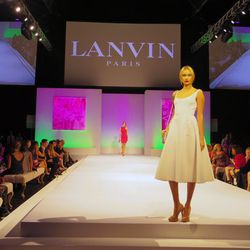 Runway show featuring Lanvin's S/S 2014 collection at Elyse Walker's ninth annual Pink Party.