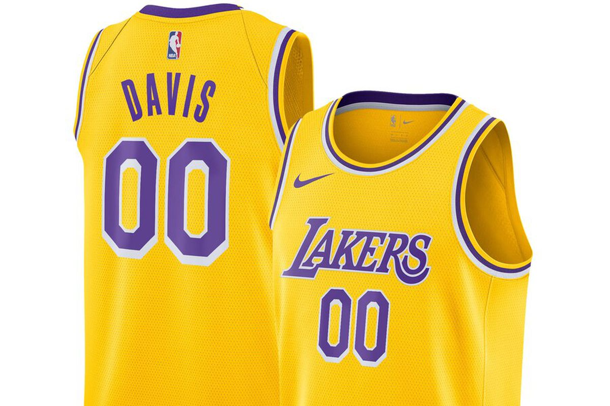 best website 3502d 9dbe8 The first Anthony Davis Los Angeles Lakers jersey has ...