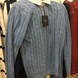 Men's collared sweater