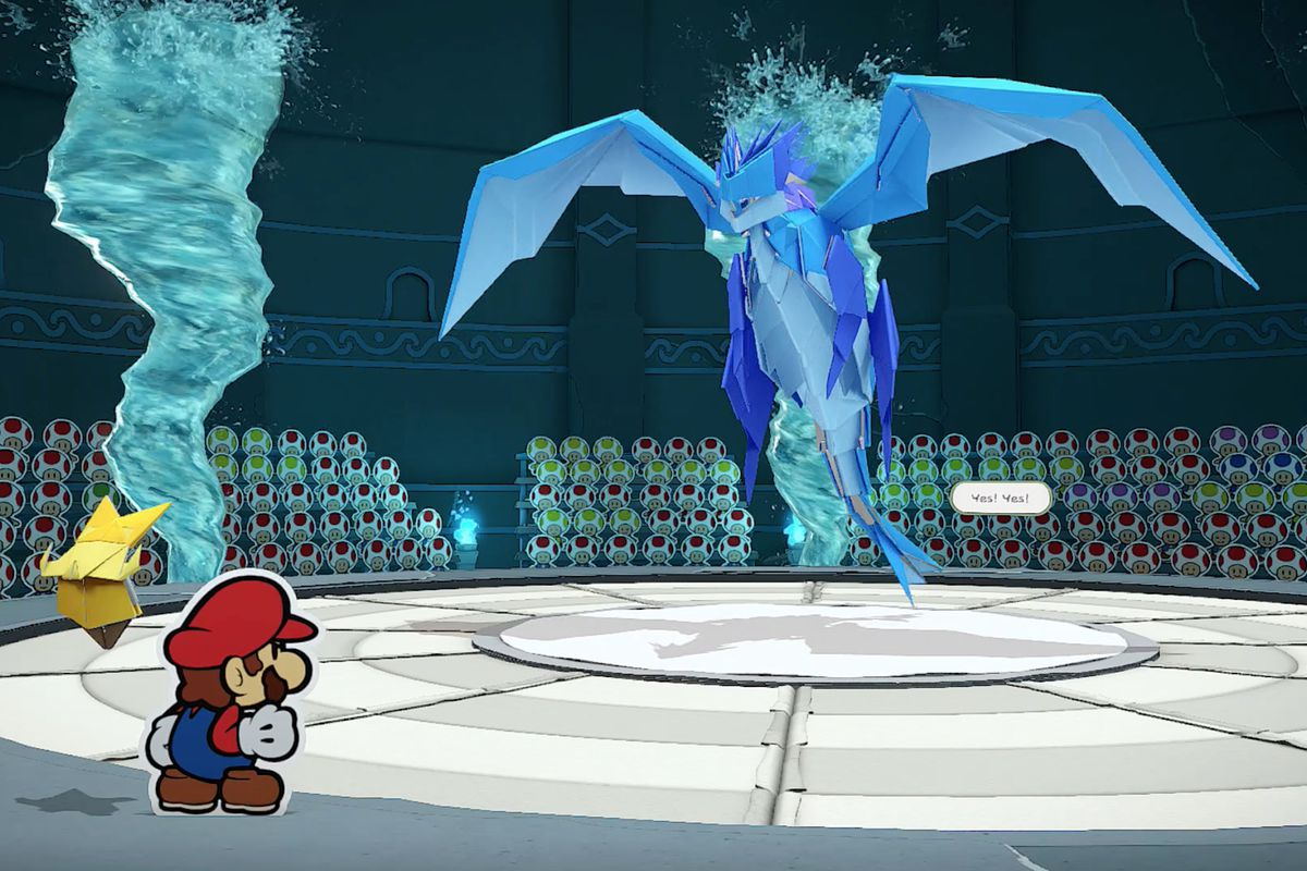 Paper Mario: The Origami King Water Vellumental boss fight guide