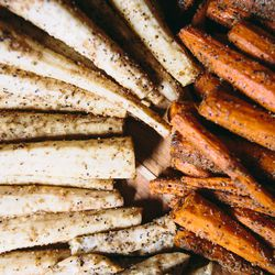 Dodds' root vegetable lonzino marries cured carrots, parsnips, and celery root with fennel, coriander, and cumin.