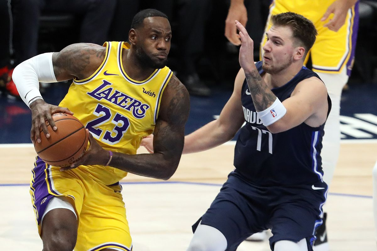 Lakers Vs Mavericks Final Score Lebron Luka Duel Ends In