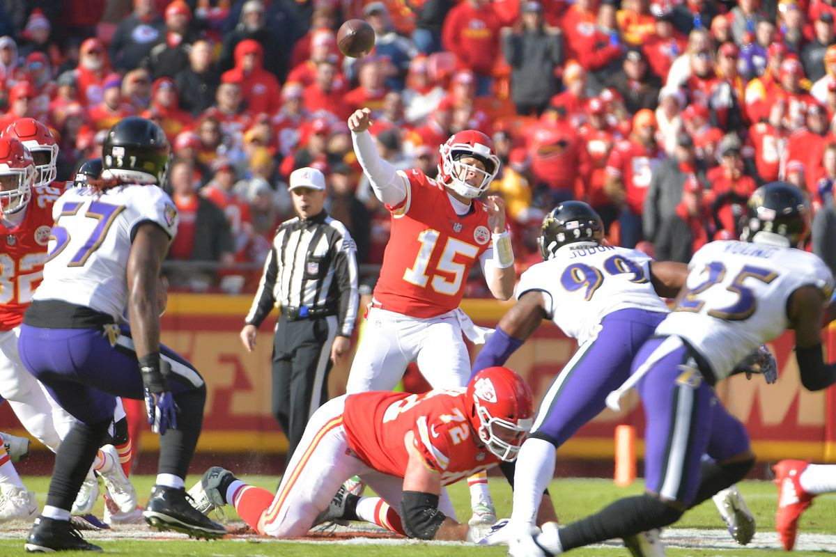 Patrick Mahomes  5 most incredible throws from the Chiefs  win ... 28abda566