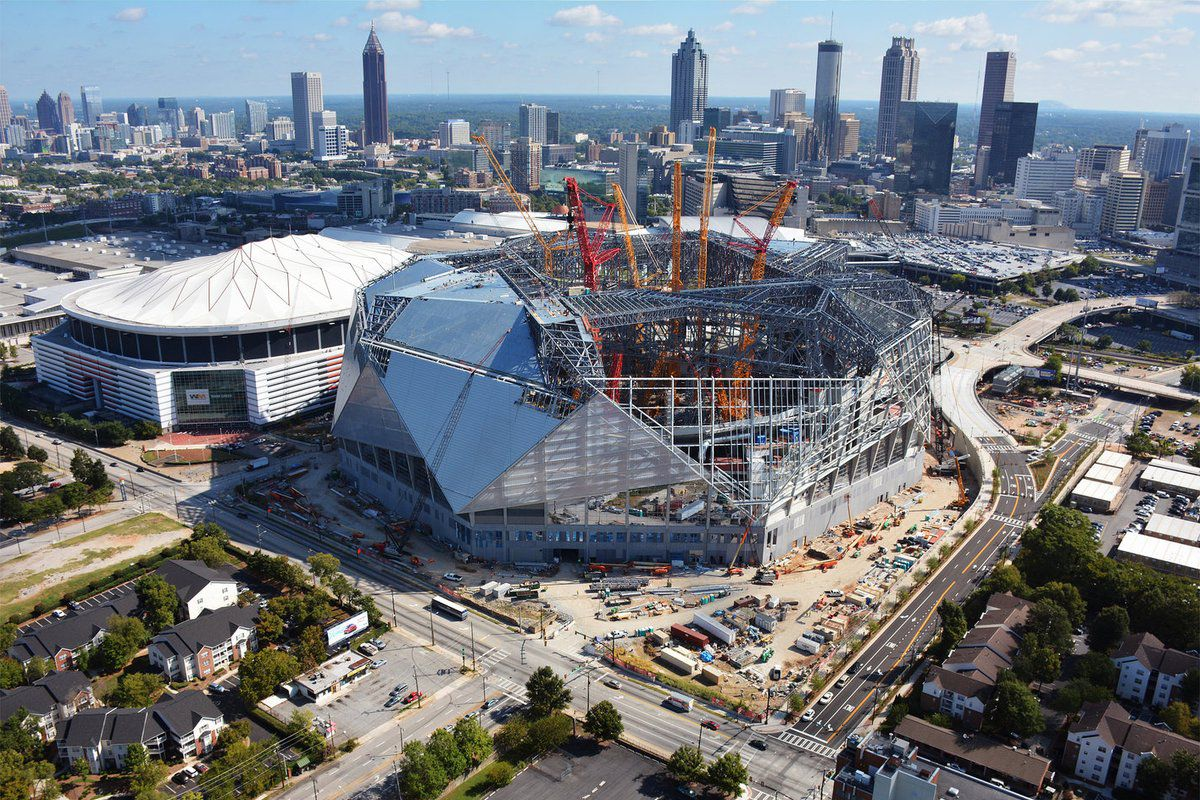New timeframe estimated for atlanta united s mercedes benz for Mercedes benz stadium atlanta united