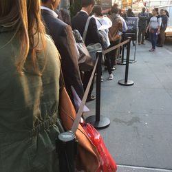 The line after work last night