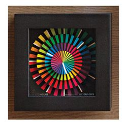 """<strong>6. Clever Clocks Spectrum, <a href=""""http://museumstore.sfmoma.org/clclsp.html """">$80</a> </strong> For the girl who appreciates form and function, this colorful clock doubles as a beautiful decorative art piece that you can display on your wall."""