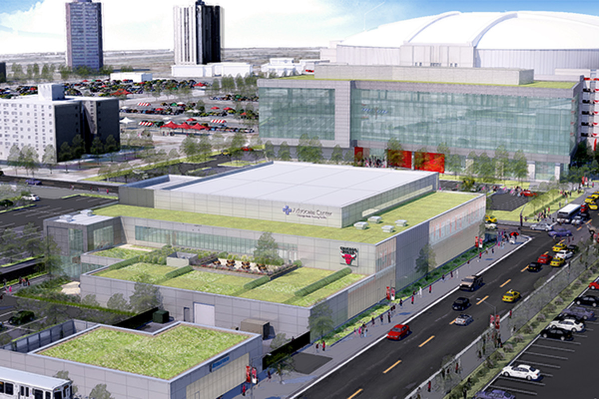 work continues on united center expansion curbed chicago