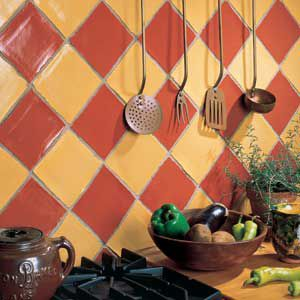 <p>Rotating tiles degrees produces a diamond pattern -- an easy way to add motion to a static area.</p>