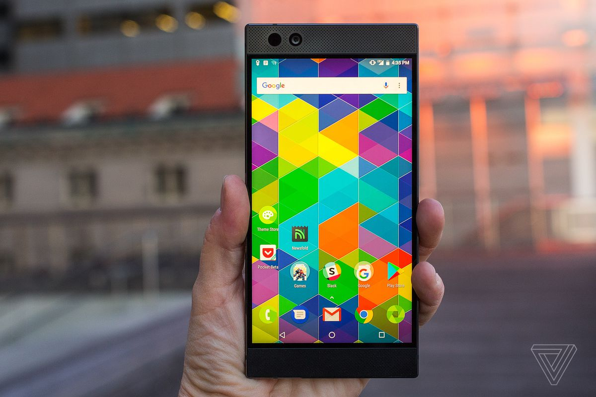 The razer phone is a demo of tomorrows display tech the verge razer phone stopboris Images