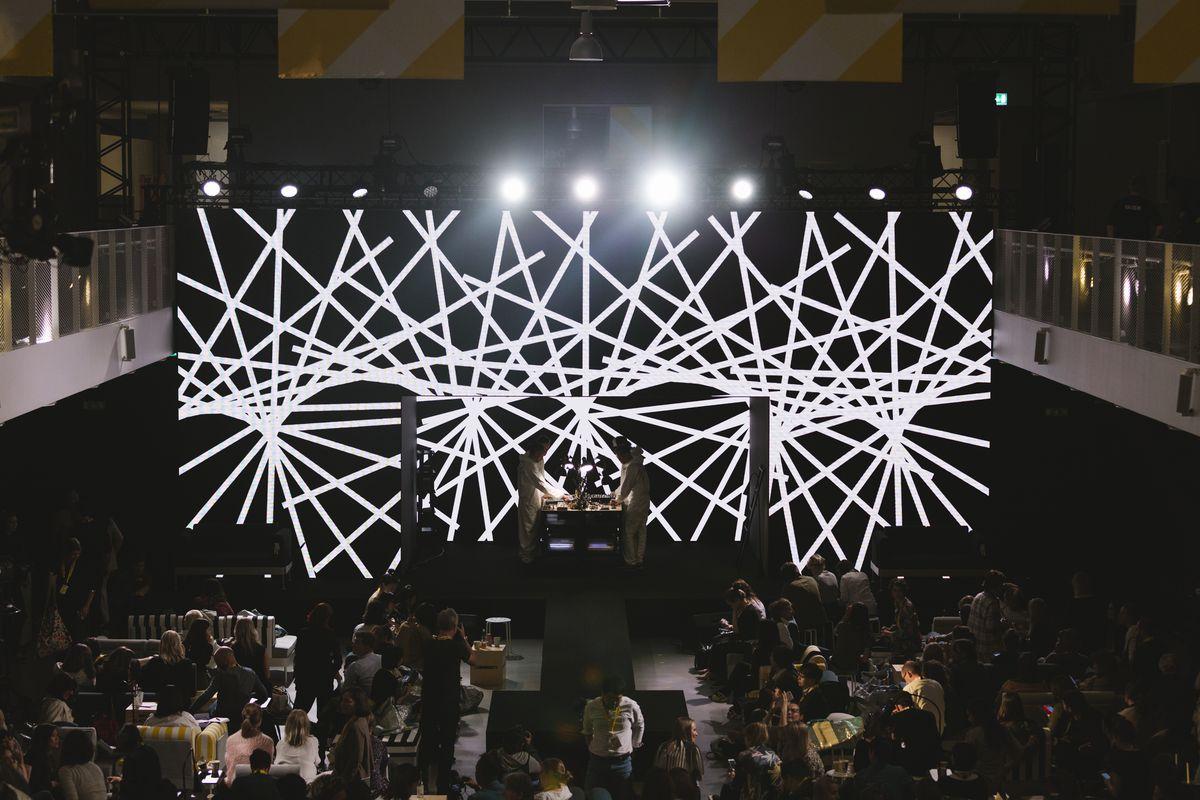 Teenage Engineering on stage with Ikea