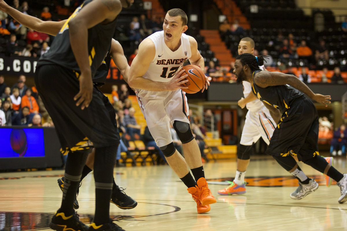 Angus Brandt hopes to hit the floor again today for Oregon St., but will be a game time decision he will have to make.