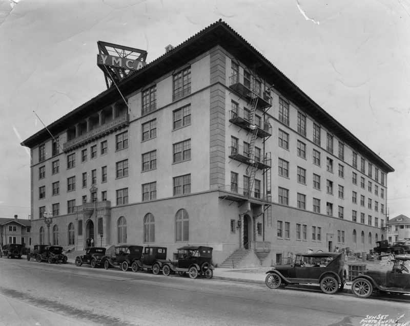 Black and white photo of the YMCA