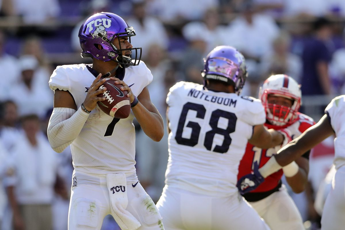mmqb kenny hill looks great as tcu defeats smu 56 36 frogs o u0027 war