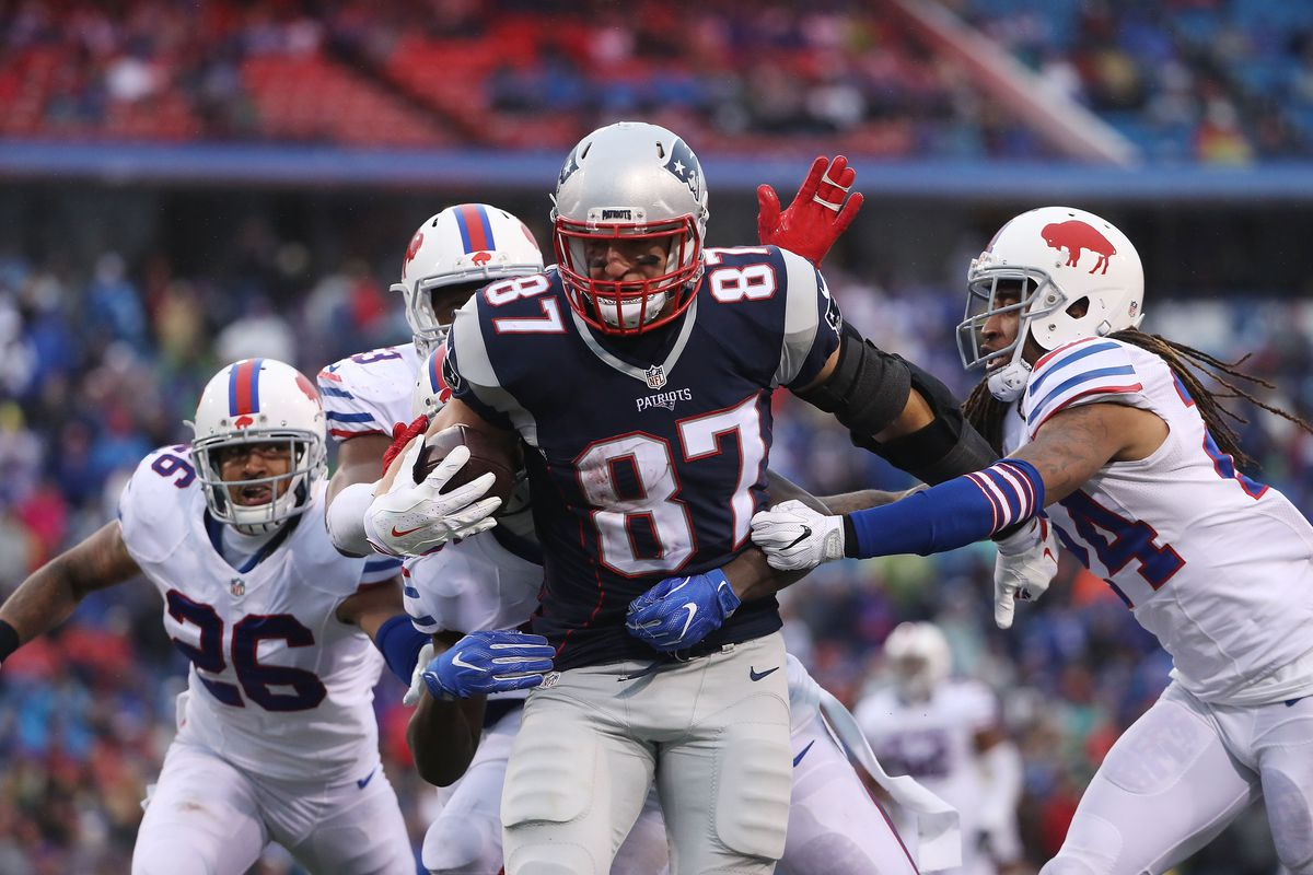 2068c29478f Patriots TE Rob Gronkowski is heading home and that s bad news for the  Buffalo Bills