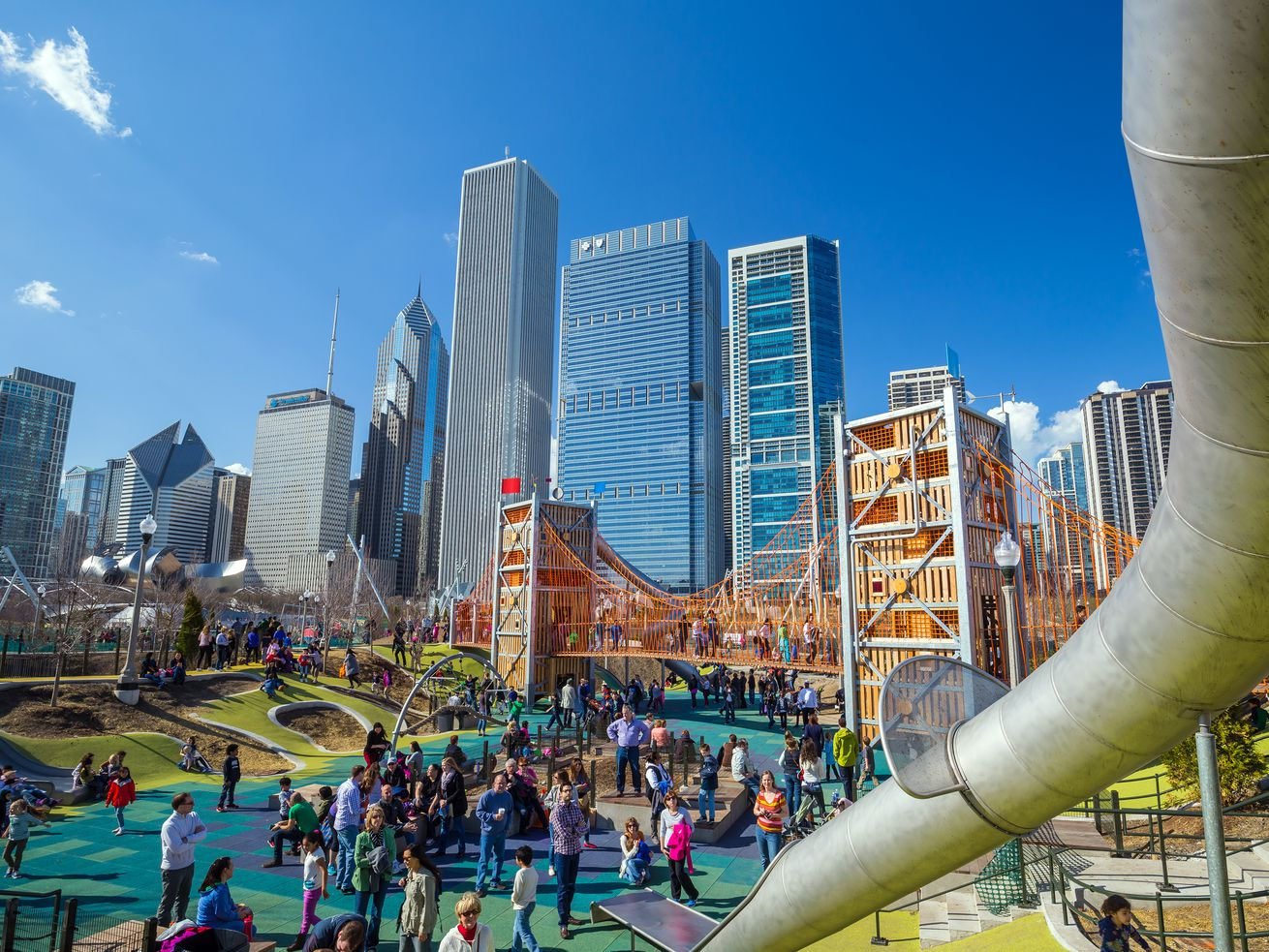 Downtown Chicago's Maggie Daley Park.