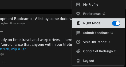 If Reddit S Redesign Is Already Live For You Just Go To The Top Right Of Your Screen In Desktop Web Browser Click On Username Then