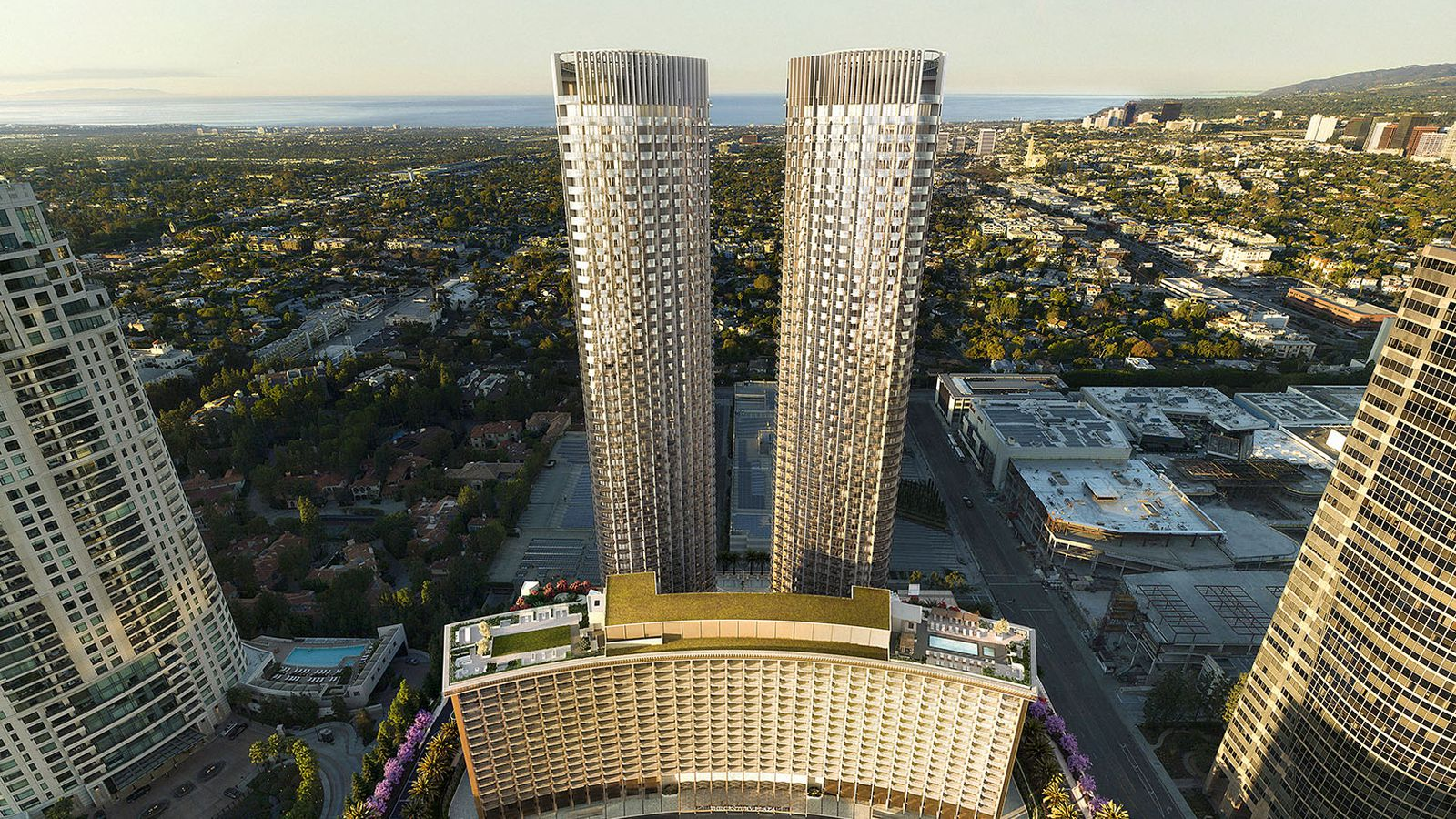 Hotels In Boston >> New renderings of glitzy Century Plaza hotel and ...
