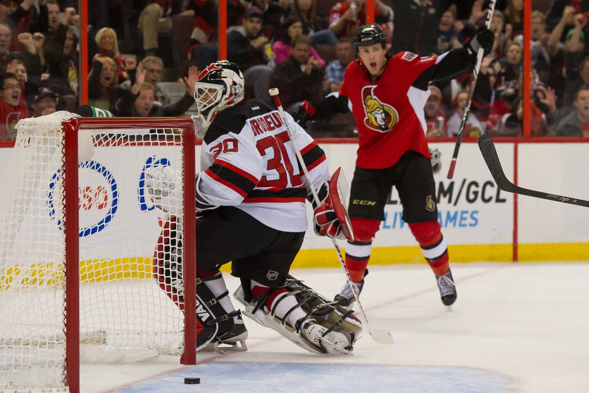 The last Ottawa-New Jersey game featured Martin Brodeur playing bad. Let's hope we don't get to see something like this tonight in Newark.
