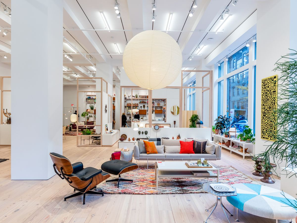 Herman Miller flagship in New York City Max Touhey. Best home goods and furniture stores in NYC
