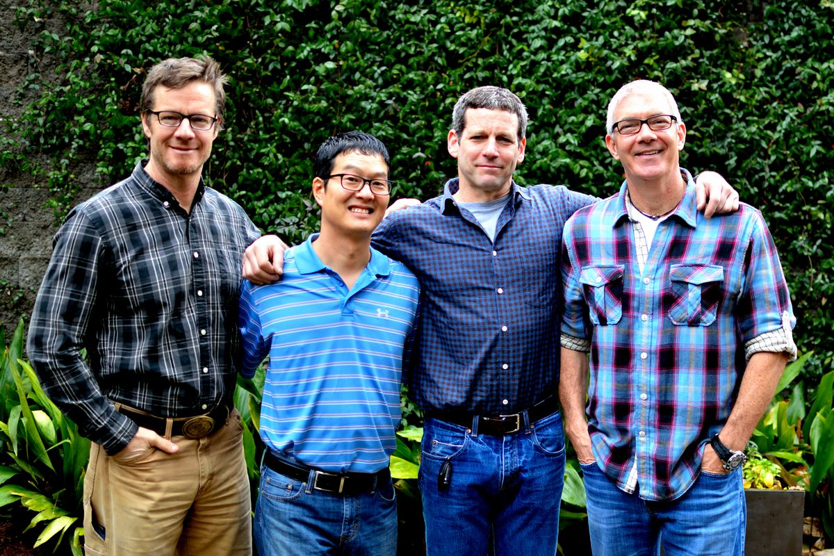 From left: Phil Roness, co-owner of 101 Concepts; Joey Ahn, executive chef/partner of 101 Steak; Chris Segal, co-owner of 101 Concepts; Steve Buero, co-owner of 101 Concepts.