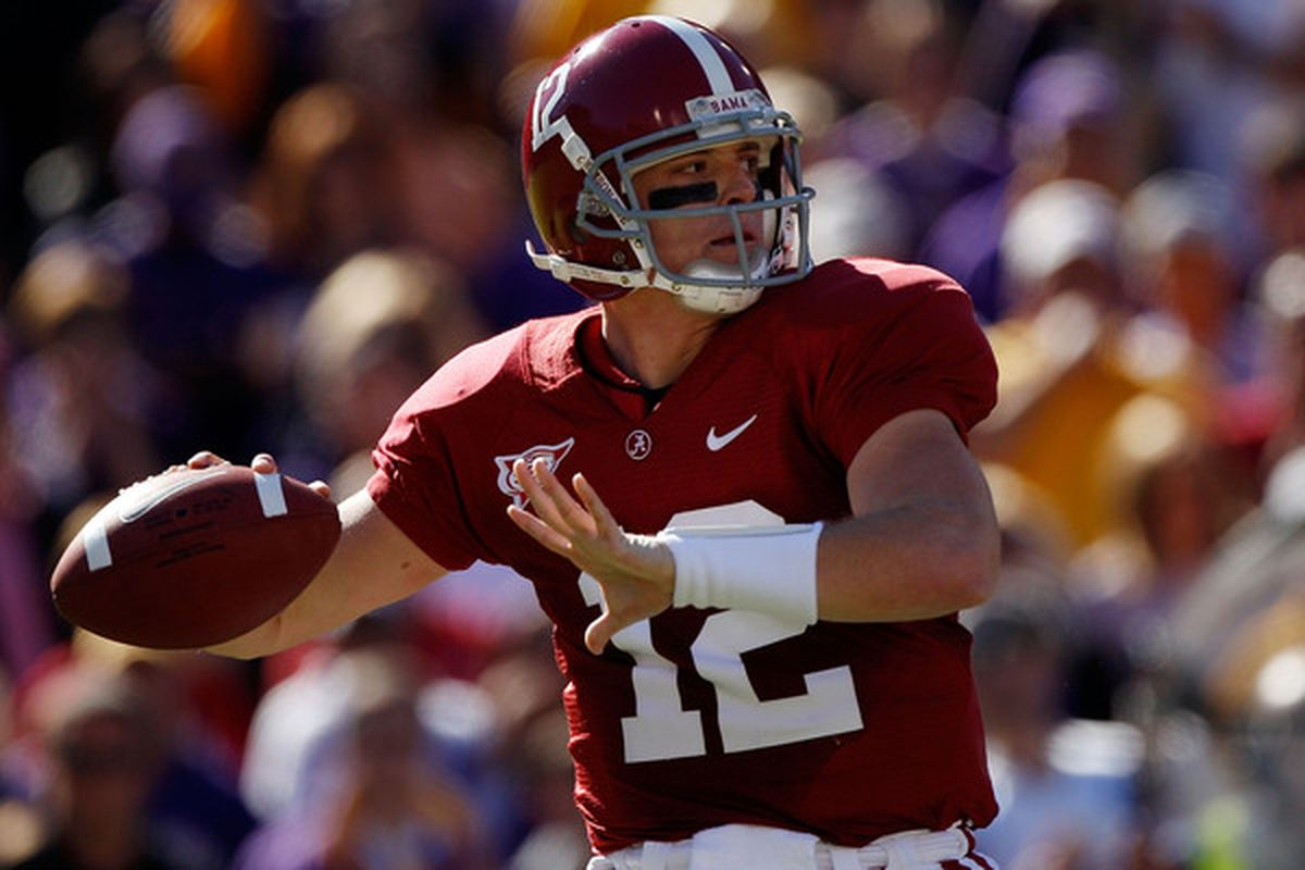 <strong>Greg McElroy</strong>. (Photo by Chris Graythen/Getty Images)