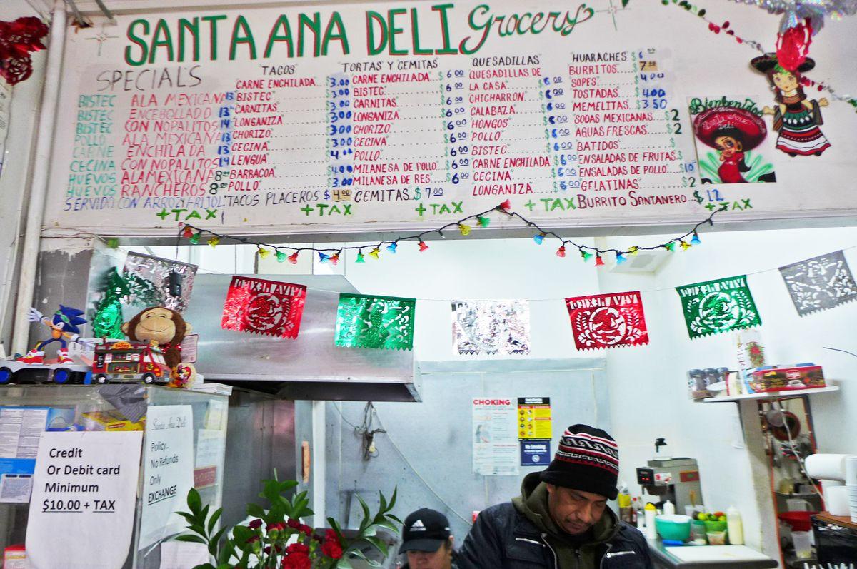Santa Ana's menu