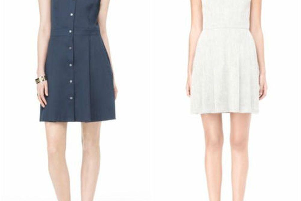 "<a href=""http://www.theory.com/nautical-shirtdress/C0404627,default,pd.html?dwvar_C0404627_color=G0F&amp;start=7&amp;cgid=sale-womens-shop-all"">Soreda Stretch Cotton Shirtdress</a>, $165 (was $275), and <a href=""http://www.theory.com/short-white-dre"