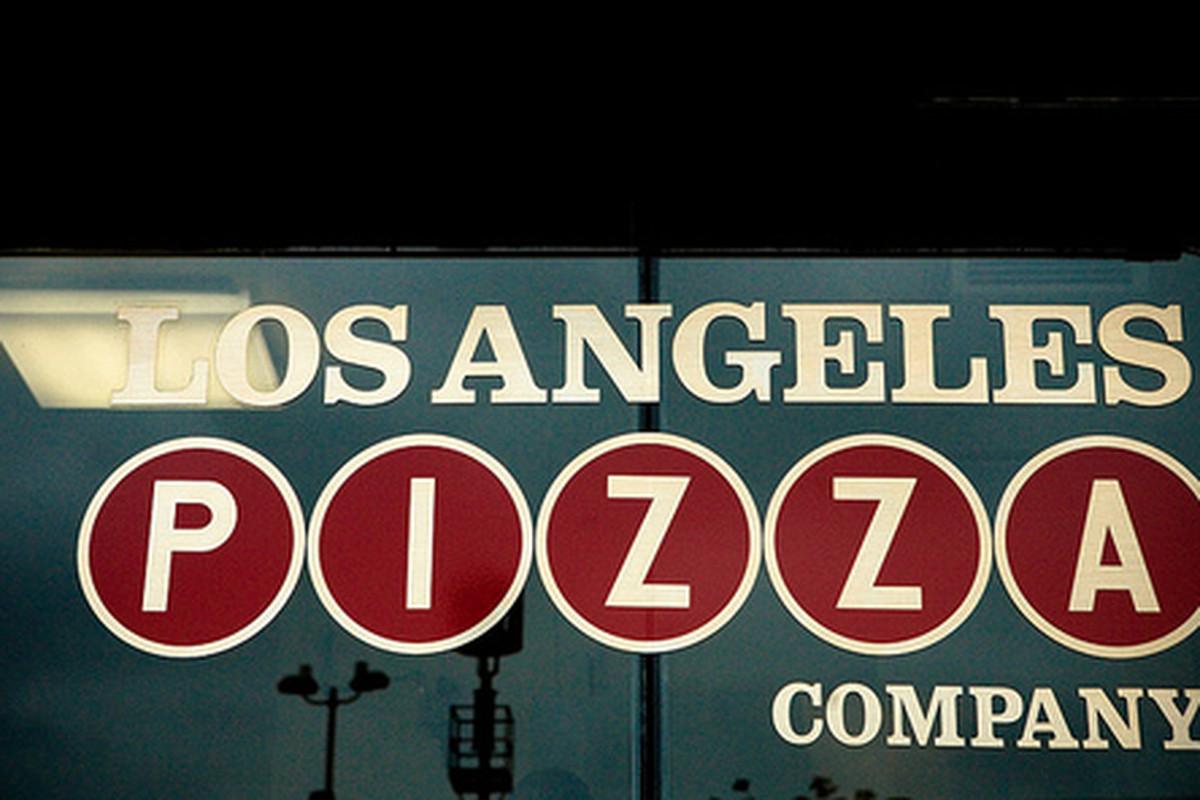 Outside Los Angeles Pizza Company, Downtown.