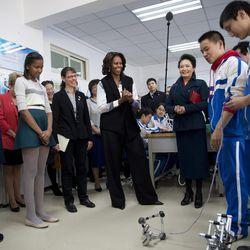 At a Beijing school in 3.1 Phillip Lim.
