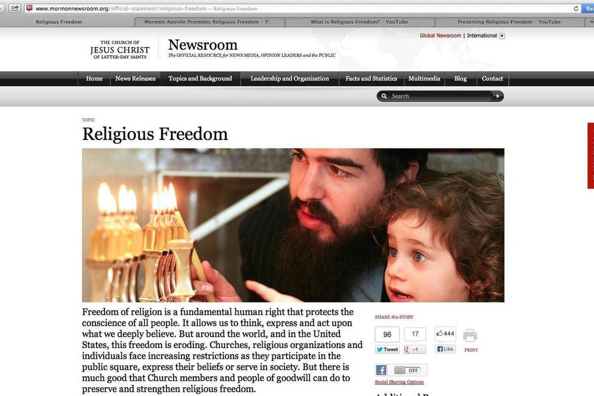 LDS Church creates new web materials in support of religious