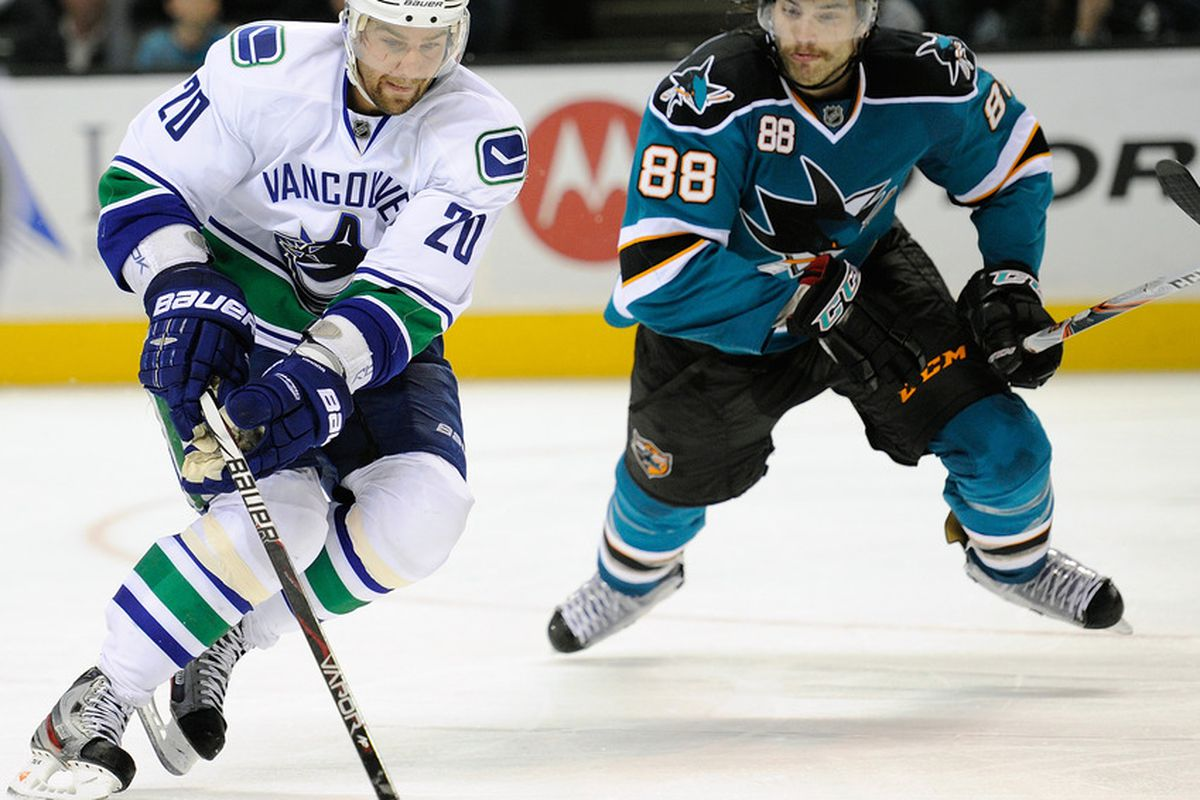 <em>The Sharks and Canucks will have the opportunity to face each other much more in the new division alignment.</em>