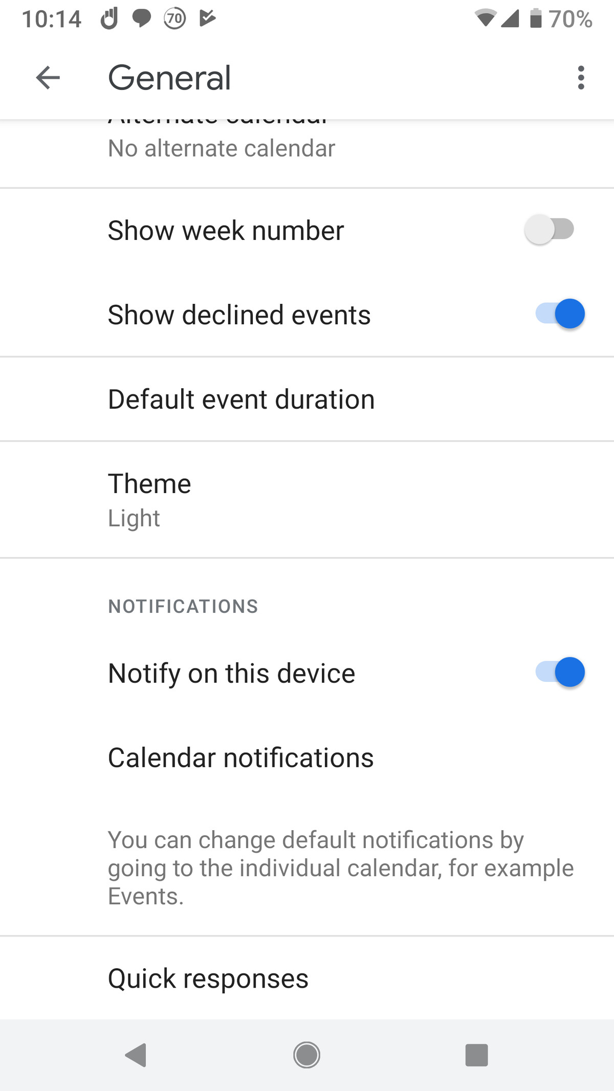 Rejected Events in Google Calendar