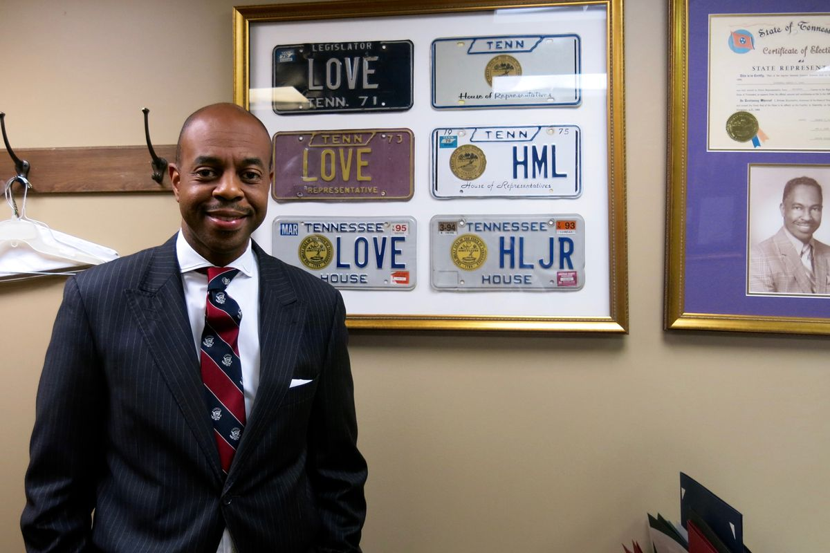 Rep. Harold Love Jr., a Nashville Democrat serving  on House education committees, has mementos in his office from when his father served in the legislature from 1968 to 1994.