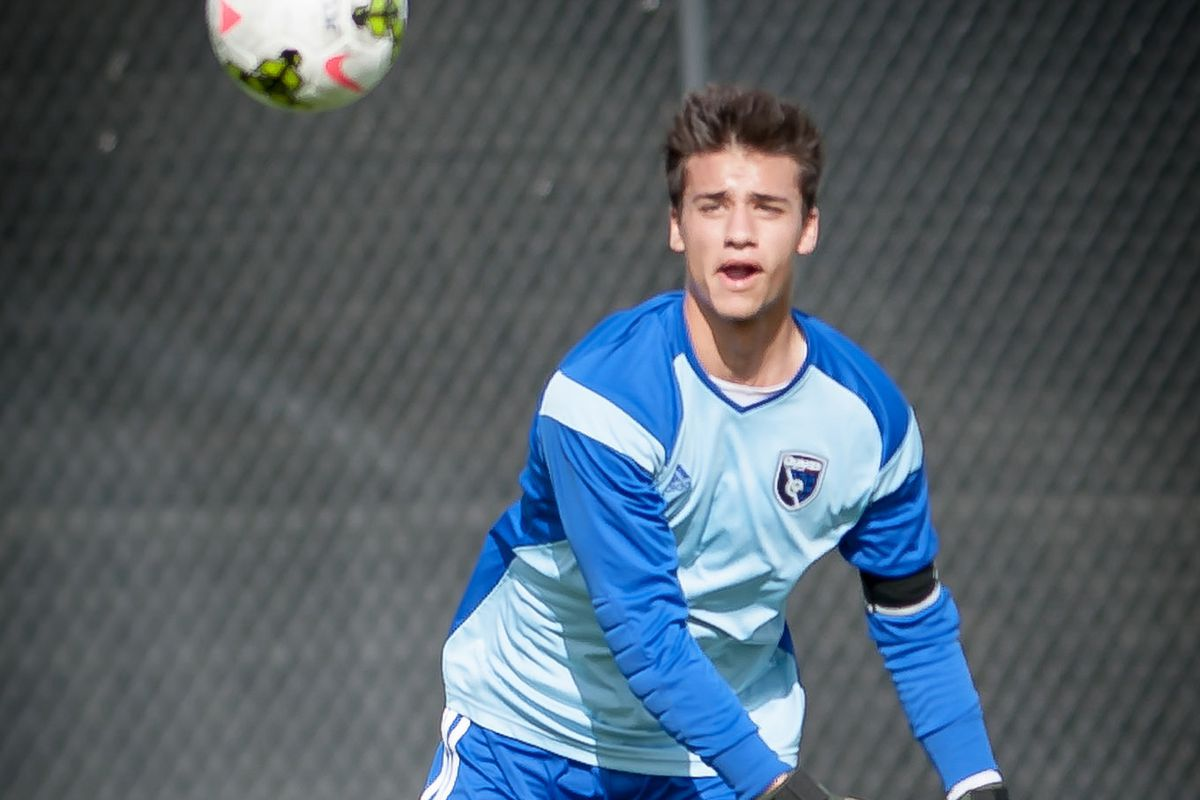 Marcinkowski featured for the Earthquakes Academy in 2014