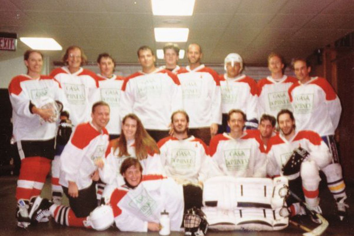 Now that was a team, I tell ya! Sorry for the grainy image, this is from 1995.