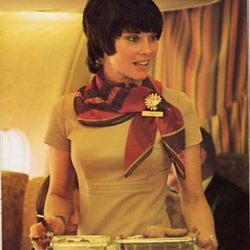 """A mid-70s portrait of Cheryl, the woman featured in National's suggestive advertisements. Photo via <a href-""""http://www.nationalsundowners.com/decades/70uniform.php"""">National Sundowners.</a>"""