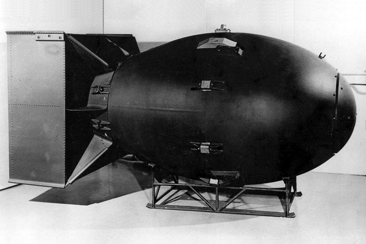 Fat Man atom bomb used in Hiroshima (Wikimedia Commons)