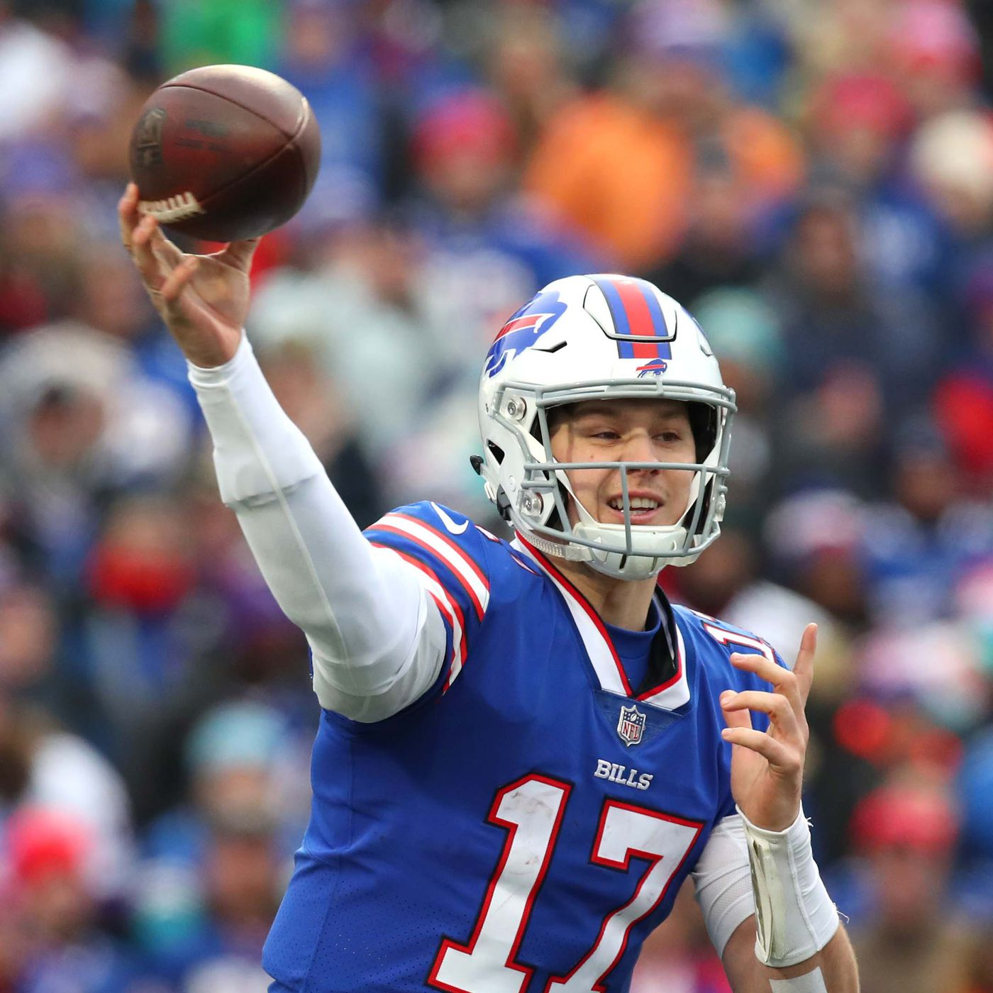 b51c4e2846c Who has the strongest arm in the NFL: Josh Allen challenges Patrick Mahomes  to see who can throw a football farther - Buffalo Rumblings