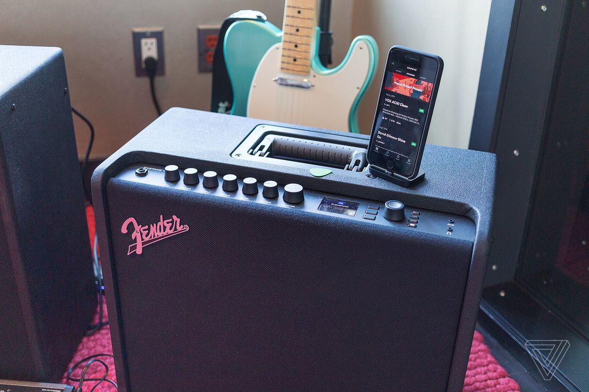 fender's new mustang gt amps have wi-fi and bluetooth so you can