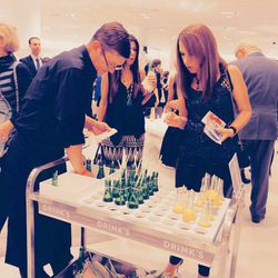 The drink cart serving white sangria and champagne was definitely a crowd pleaser.