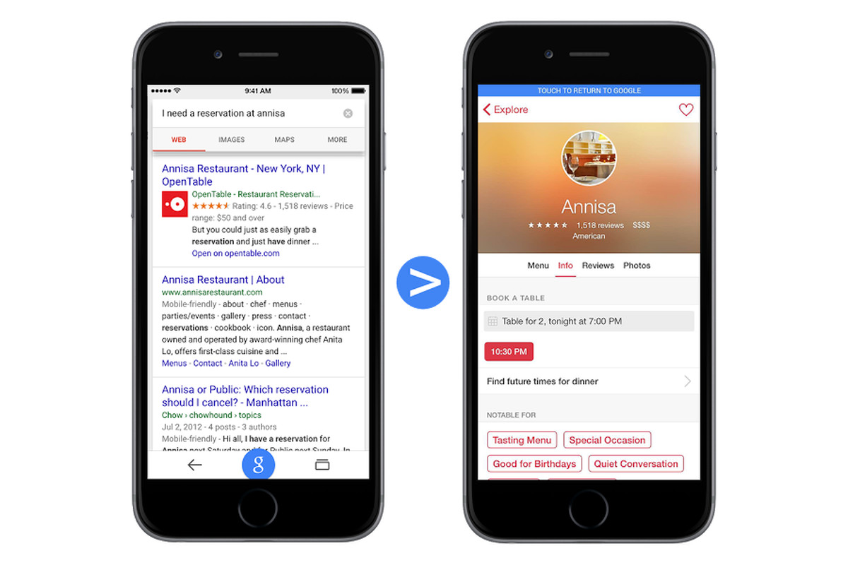 Google will soon link directly to iOS apps in mobile search - The Verge