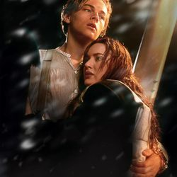 """In this film image released by Paramount Pictures, Leonardo DiCaprio, left, and Kate Winslet are shown in a scene from the 3-D version of James Cameron's romantic epic """"Titanic."""""""