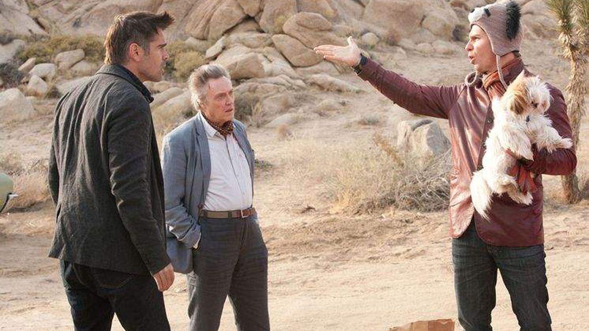 Collin Farrell, Christopher Walken, and Sam Rockwell in Seven Psychopaths (2021).