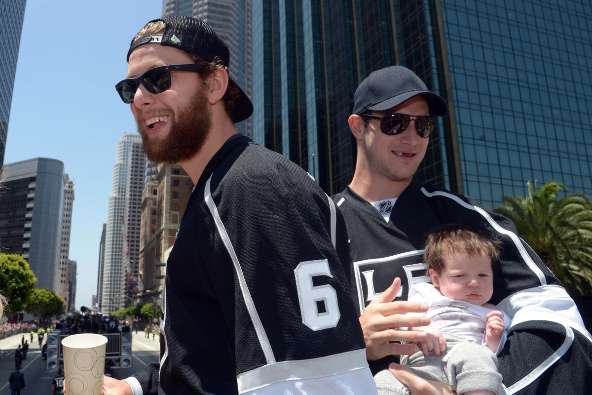 Nothing is hotter than Jake Muzzin's neck-beard and a toothless Kyle Clifford with a baby