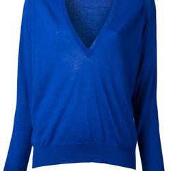 """Proenza Schouler classic Merino sweater, <a href=""""http://www.kirnazabete.com/tops/sweaters/classic-merino-sweater-42078?color=BLU"""">$635</a> at Kirna Zabete"""