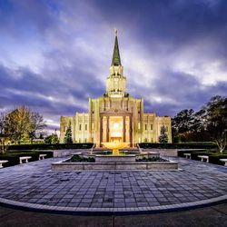 Scott Jarvie is on a mission to capture and compile pictures of every LDS temple in the United States. The Houston Texas Temple is pictured here.