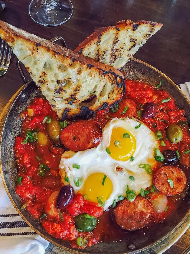 Baked eggs at osteria posto