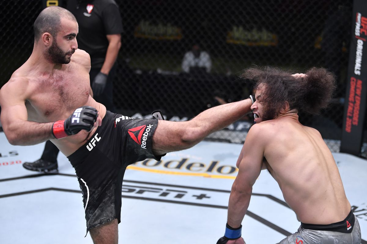UFC Vegas 13 video: Giga Chikadze blasts Jamey Simmons with devastating head kick to earn first-round knockout - MMA Fighting