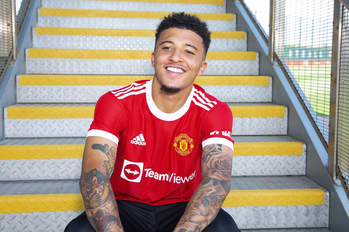 Manchester United Unveil New Signing Jadon Sancho